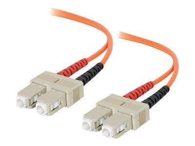 C2G 2m SC/SC LSZH Duplex 62.5/125 Multimode Fibre Patch Cable - Orange