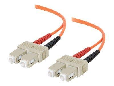C2G 10m SC/SC LSZH Duplex 62.5/125 Multimode Fibre Patch Cable - Orange