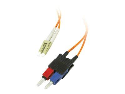 C2G 5m LC/SC LSZH Duplex 62.5/125 Multimode Fibre Patch Cable - Orange