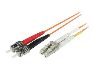 C2G 2m LC/ST LSZH Duplex 62.5/125 Multimode Fibre Patch Cable - Orange