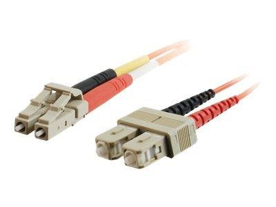 C2G 5m LC/SC LSZH Duplex 50/125 Multimode Fibre Patch Cable - Orange
