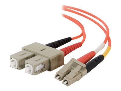 C2G 10m LC/SC LSZH Duplex 50/125 Multimode Fibre Patch Cable - Orange
