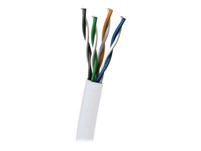 C2G 305m Cat5E UTP 350 MHz Solid PVC CMR-Rated Cable - White