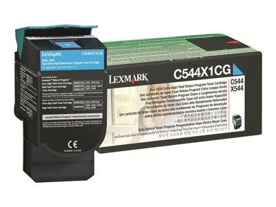 Lexmark C544X1CG Cyan Return Cartridge