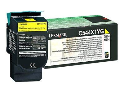 Lexmark C544X1YG Yellow Return Cartridge