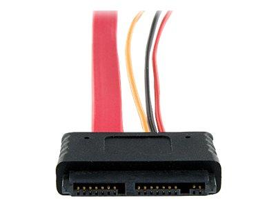 StarTech.com 12in Micro SATA to SATA with SATA Power Adapter Cable