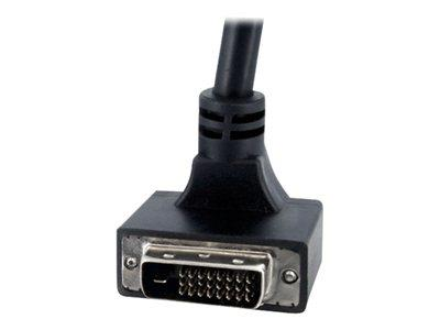 StarTech.com 6 ft 90 Degree Down Angled Dual Link DVI-D Monitor Cable - M/M