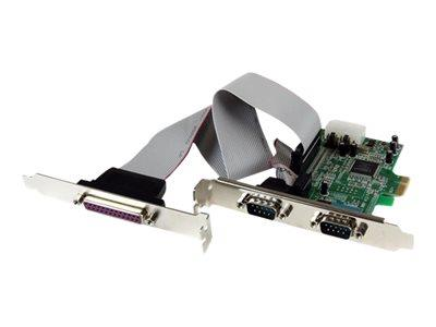 StarTech.com 2S1P Native PCI Express Parallel Serial Combo Card with 16550 UART
