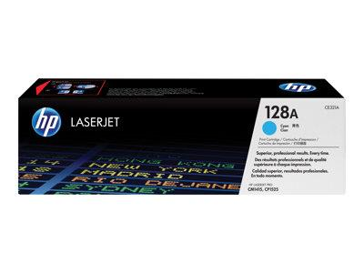 HP 128A Cyan Original LaserJet Toner Cartridge