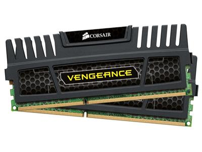 Corsair 8GB (2x4GB) DDR3 1600Mhz CL9 Vengeance Black Performance Desktop Memory Kit