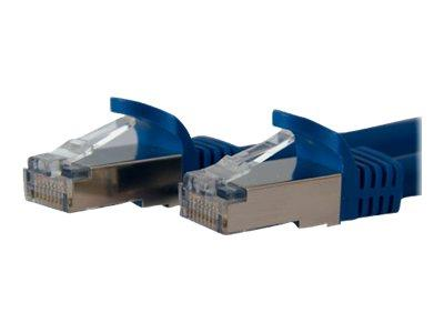 StarTech.com 3 ft Cat 6a Blue Shielded Molded 10 Gigabit RJ45 STP Cat6a Patch Cable