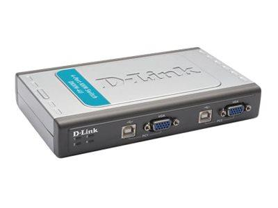 D-Link KVM Switch Pro Connect 4 Port USB 2X CABLES