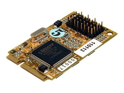 StarTech.com 4 Port RS232 Mini PCI Express Serial Card with 16650 UART