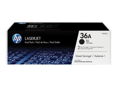 HP 36A 2-pack Black Original LaserJet Toner Cartridges