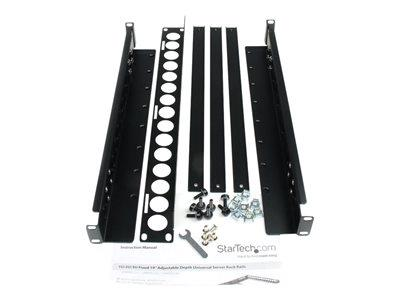 "StarTech.com 1U Fixed 19"" Adjustable Depth Universal Server Rack Rails"