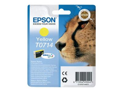 Epson T0714 DuraBrite Ultra Ink - Print cartridge - 1 x yellow