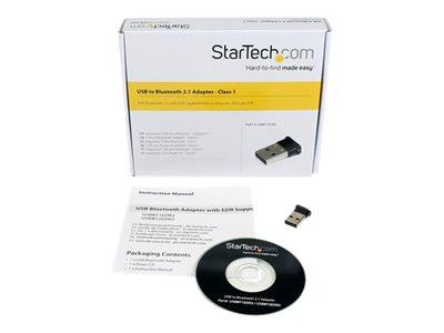 StarTech.com Mini USB Bluetooth 2.1 Adapter Class 1 EDR Wireless Network Adapter