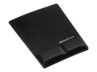 Fellowes FELLOWES BLACK MOUSEPAD W/REST