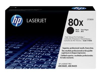 HP 80X High Yield Black Original LaserJet Toner Cartridge