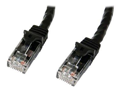 StarTech.com 0.5m Black Gigabit Snagless RJ45 UTP Cat6 Patch Cable