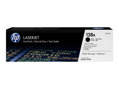 HP 128A 2-pack Black Original LaserJet Toner Cartridges