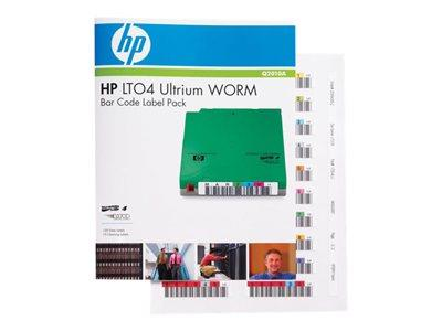 HP LTO4 Ultrium WORM Automation Bar Code Labels (110 pack)