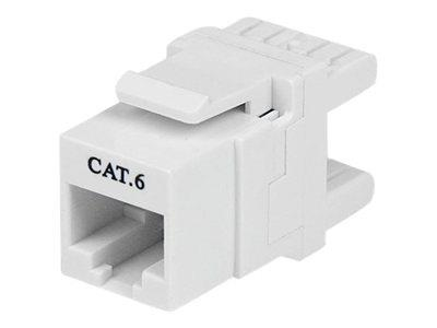 StarTech.com 180° Cat 6 Keystone Jack - RJ45 Ethernet Cat6 Wall Jack White - 110 Type