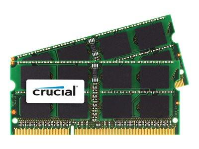 Crucial 16GB (2 x 8GB) DDR3 1333MHz PC3-10600 204pin SODIMM CL9 Mac
