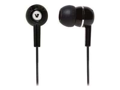 V7 In-ear Earbuds - Black (HA100-2EP)