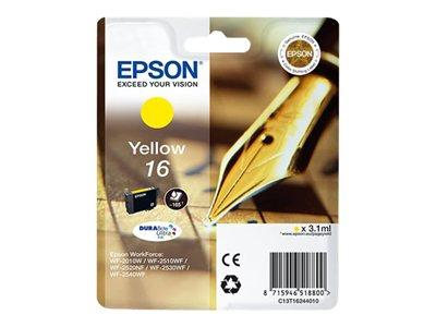 Epson 16 - Ink Cartridge - 1 x Yellow - 165 pages - Pen and Crossword