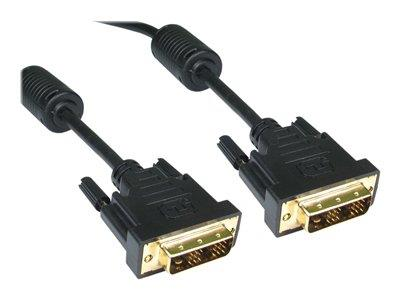 Cables Direct 5m DVI-D Single Linkl M-M Black + Gold Connectors B/Q 40
