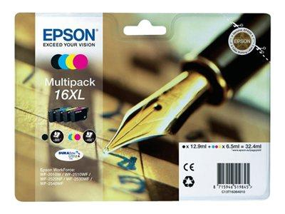 Epson 16 Series XL Ink Cartridge MultiPack - CYMK - Pen and Crossword