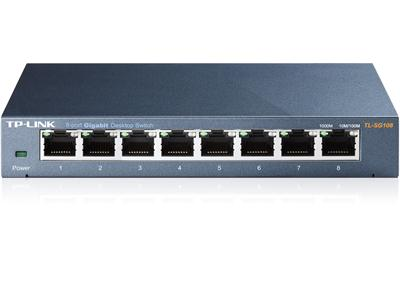 TP LINK 8-Port Gigabit Desktop Switch - Steel Case