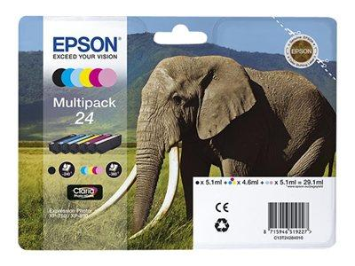Epson XP750/850 6-Pack Ink Cartridge 24 Elephant