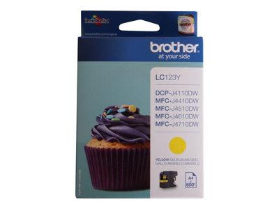Brother LC123Y Yellow Ink Cartridge