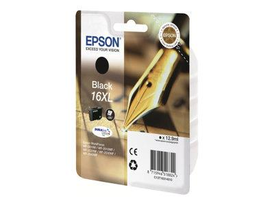 Epson 16 Series  XL Ink Cartridge - Black - 500 Pages - Pen & Crossword