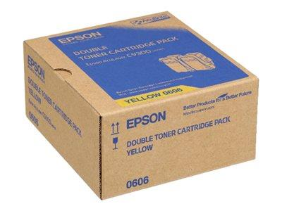 Epson AL-C9300N Double Pack Toner Cartridge Yellow 7.5k x2