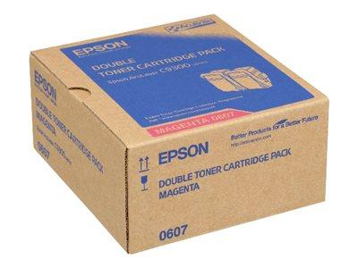 Epson AL-C9300N Double Pack Toner Cartridge Magenta 7.5k x2