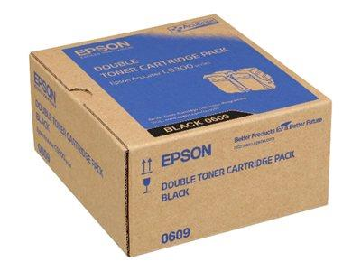 Epson AL-C9300N Double Pack Toner Cartridge Black 6.5k x2