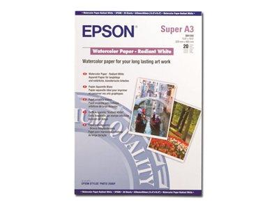 Epson A3+ Watercolour Paper - Radiant White (20 Sheets)