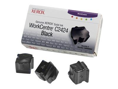 Xerox C2424 Pack Of 3 Black Wax Sticks