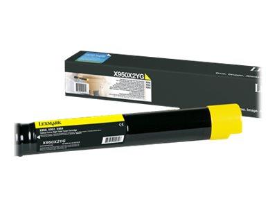 Lexmark X950 Yellow Extra High Yield Cartridge