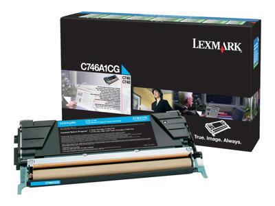 Lexmark C746/748 Cyan Return Program Toner