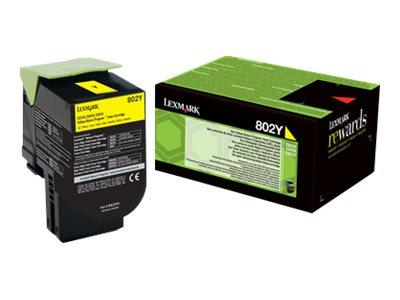 Lexmark 802Y Return Program Yellow Toner