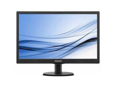 "Philips 193V5LSB2 18.5"" 1366x768 5ms VGA LED Black Monitor"