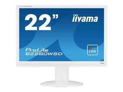"iiyama ProLite B2280WSD-W 22"" 1680x1050 5ms VGA DVI-D LED White Monitor with Speakers"