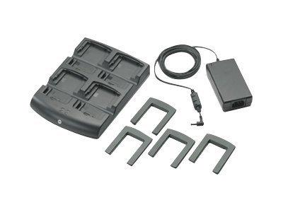 Zebra 4 Slot Battery Charger Kit (INTL). Kit includes: 4 Slot Batt