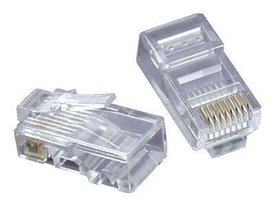 C2G RJ45 CAT5e 8x8 Modular Plugs for Flat Stranded Cable (50Pk)