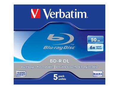 Verbatim BD-R DL 50GB 6X 5 pack