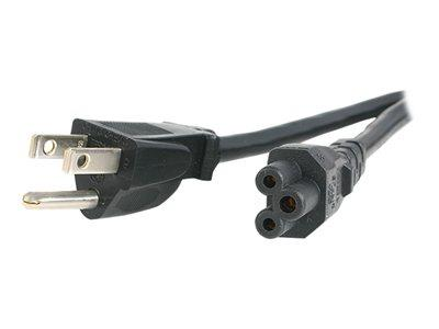 StarTech.com 3 ft Standard Laptop Power Cord -  NEMA 5-15P to C5